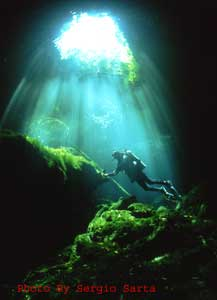 cavern diving playa del carmen